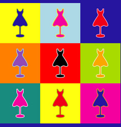 Mannequin with dress sign pop-art style vector