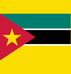 national flag of mozambique vector image