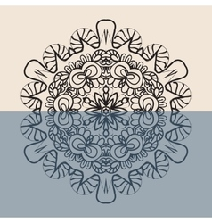 Outline Mandala Background for greeting card vector image vector image
