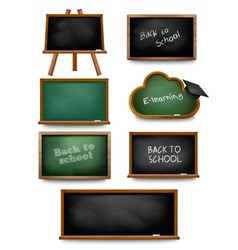 Set of school board blackboards Back to school vector image