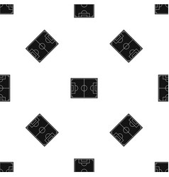 Soccer field pattern seamless black vector