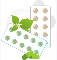 tablets and capsules vector image