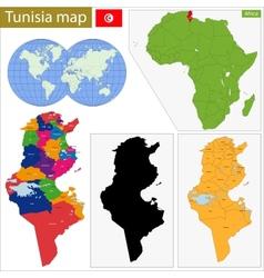 Tunisia map vector