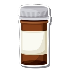 Bottle container drugs isolated icon vector
