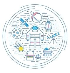 Space universe concept vector