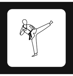 Aikido fighter icon simple style vector