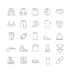 Clothes icons stock vector image