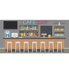 Cafe bar interior vector