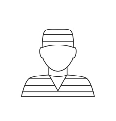 Prisoner avatar thin line icon vector
