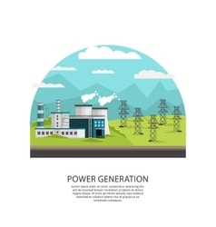 Outdoor Powerplant Transmission Concept vector image