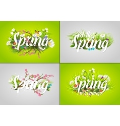 Spring text letter vector