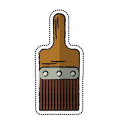 cartoon paint brush tool design vector image