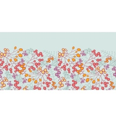 Winter berries horizontal seamless pattern vector