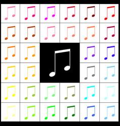 music sign   felt-pen 33 vector image