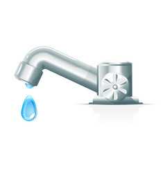 modern water tap with drop vector image