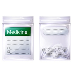 A sealed medicine pouch vector
