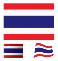 Thailand flag set vector image