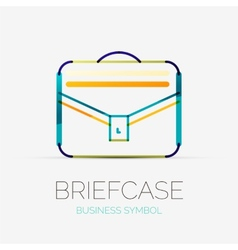 Briefcase icon company logo business concept vector