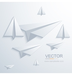 Modern origami airplane background vector