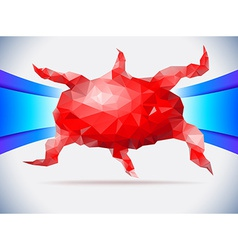 Red crystal octopus vector