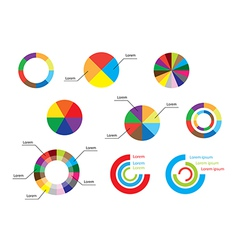Color round diagrams - set of infographic vector