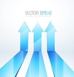 3d up arrows artwork vector image vector image