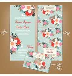 wedding invitation seal and send vector image
