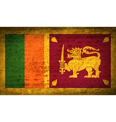 Flags sri lanka with dirty paper texture vector