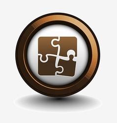 Puzzle web icon vector