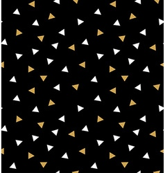 Abstract seamless pattern with triangles in gold vector