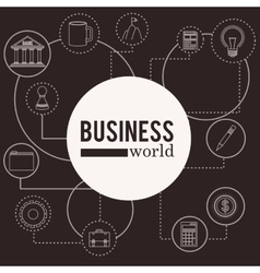 Business world design vector