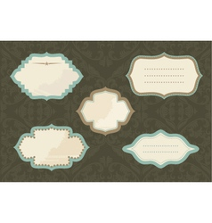 Vintage document frame vector