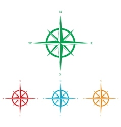 Wind rose sign vector