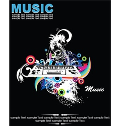 Music background with dj vector
