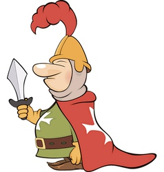 a cartoon knight vector image