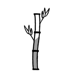 bamboo branch isolated icon vector image vector image