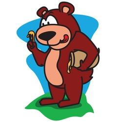 Bear eating honey vector