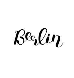 Berlin Brush lettering vector image