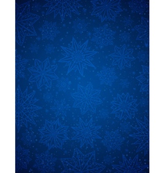 Blue christmas background with snowflakes and star vector
