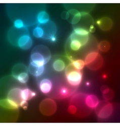 Bright colorful bokeh effect background vector image vector image