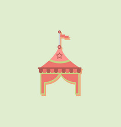 Circus tent stock in sticker style vector