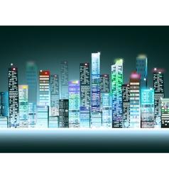 Cityscape at night vector