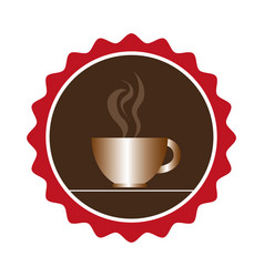 Coffee cup drink isolated icon vector