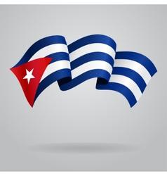 Cuban waving Flag vector image