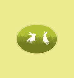 Easter bunny collection design vector