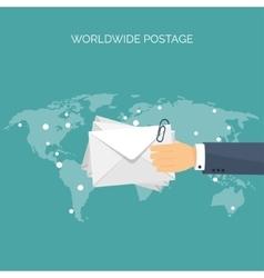Flat header International vector image