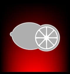 fruits lemon sign postage stamp or old photo vector image