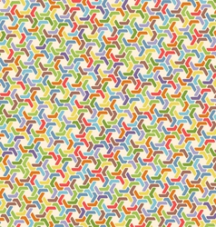 Full color seamless geometric pattern with hexagon vector image vector image