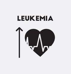 Heart and arrow symptoms of leukemia on bodies vector