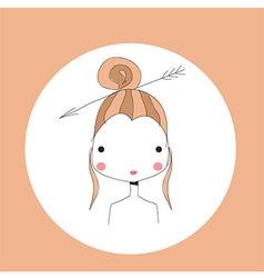 Horoscope Sagittarius sign girl head vector image